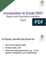 Excel Basics - Descriptive Statistics