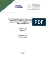 Constructii Programa Titularizare 2011