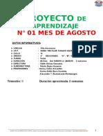 PROYECTO DE APRENDIZAJE 01