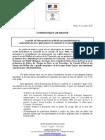 Communiqué - Arrêté d'Interdiction de Manifestation Lié Aux Gilets Jaunes Prévue Le Vendredi 13 Et Samedi 14 Mars 2020