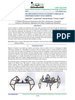 Development and Implementation of Jansenss Linkage in Bioinspired Robot for Farming