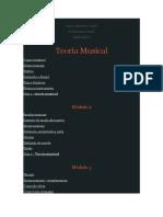 Teoria Musical - ideia de plano de curso