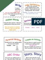 Active Spelling Homework