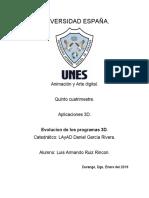 UNIVERSIDAD ESPAÑA- Aplicaciones 3D