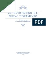El Texto Griego del Nuevo Testamento