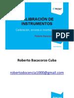 Calibración de Instrumentos 3 Calibración Errores e Incertidumbre (1)