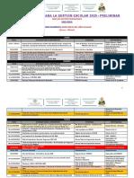 LINEA DE TIEMPO PARA LA GESTION ESCOLAR  2020 - UGEL Rioja - Version PRELIMINAR.docx
