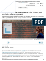 Comportamento do coronavírus no calor é chave para previsões sobre seu controle _ Internacional _ EL PAÍS Brasil