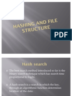 Hashing and File Structure