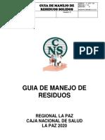 GUIA DE MANEJO DE RESIDUOS 2020