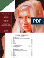 cd booklet - La Rue_ Missa De Feria