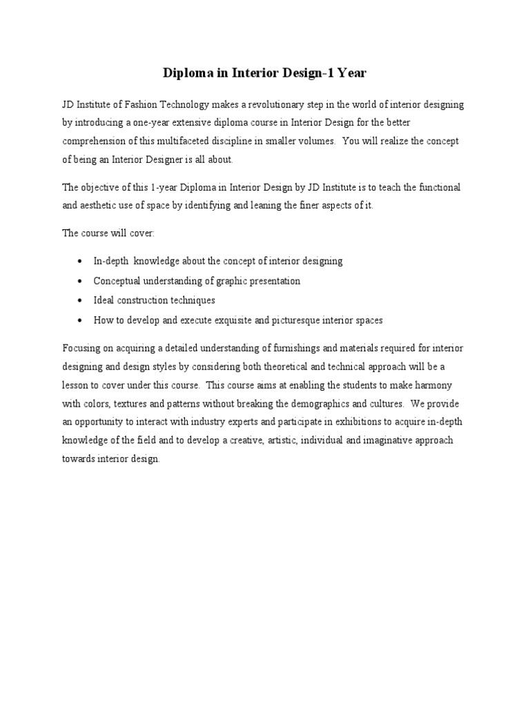 jd institute of interior designing concepts