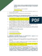 cuestionario de preguntas de derecho procesal penal