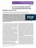 The species Severe acute respiratory syndromerelated coronavirus