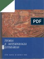 AGUIAR E SILVA, Vítor Manuel de - Teoria e Metodologia Literárias (2)