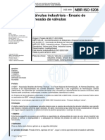 ABNT NBR ISO 5208 Valvulas Industriais - Ensaios de Pressão - 2000