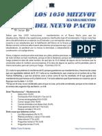 LOS 1050 MITZVOT DEL NUEVO PACTO