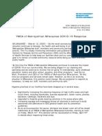 COVID-19 Press Release - 3-12-2020