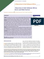 11. Epidemiology of Glaucoma in Sub-Saharan Africa