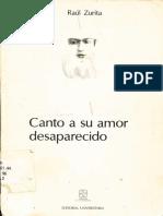 Canto a Su Amor Desaparecido (Zurita)