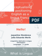 Conceptualising English as a Lingua Franca