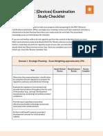 RAC Device Study Checklist