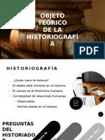 EXPOSICIÓN. Objeto de la historiografía - Salas Rafael y Linarez Héctor