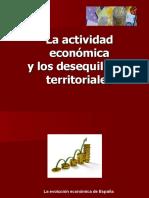 La actividad económica y los desequilibrios territoriales
