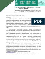 DETERMINACAO DO CICLO ESTRAL POR CITOLOGIA VAGINAL A– RELATO DE CASO