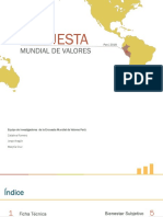 encuesta mundial de valores Peru 2018