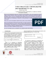 Espectroscopia UV-Vis Determinación simultánea de Co  y Cr 2019
