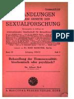 Behandlung der Homosexualität