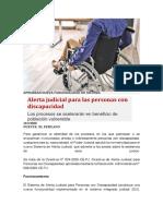 Alerta judicial para las personas con discapacidad