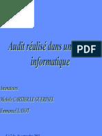 Audit dans milieu informatique