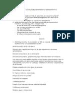 TALLER DE ESCUELA DEL PENSAMIENTO ADMINISTRATIVO