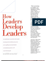 How Leaders Develop Leaders