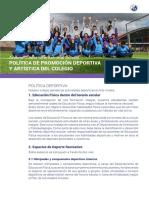 14_Politica_promocion_deportiva_y_artistica
