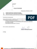 Circular N°016 - Protocolo Virus COVID-19