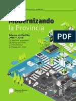 Modernizando la Provincia - Informe de Gestión 2016-2019