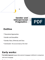 gender and interpersonal pragmatics