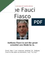 The Fauci Fiasco