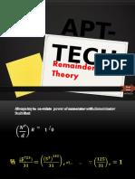 Remainder Theory 2017.pptx