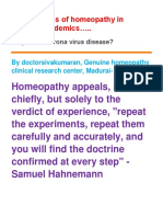 effectiveness of  Homeopathy