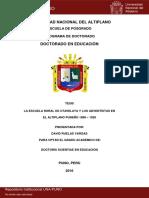 LA ESCUELA RURAL DE PLATERIA Y LOS ADVENTISTAS EN EL ALTIPLANO PUNEÑO 1898 – 1920