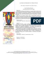 La Idea de Liberacion en Paulo Freire