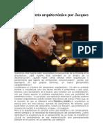 5.0 El pensamiento arquitectónico por Jacques Derrida