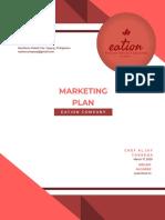 Sample Marketing Plan - Eation Company