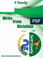 a booklet for PTE exam