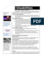 physical disabilities one pager