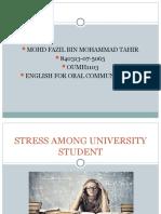 STRESS AMONG UNIVERSITY STUDENT.ppt